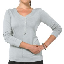 Horny Toad Sonja Henley Shirt - Organic Cotton, Long Sleeve (For Women) in Quarry - Closeouts