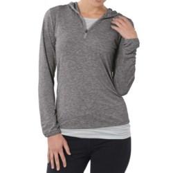 Horny Toad Swifty Hoodie Sweatshirt - Dri-Release®, TENCEL®, Zip Neck (For Women) in Charcoal