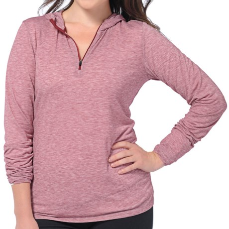 Horny Toad Swifty Hoodie Sweatshirt - Zip Neck (For Women) in Charcoal Heather