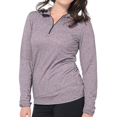 Horny Toad Swifty Hoodie - Zip Neck (For Women) in Nightshade Heather