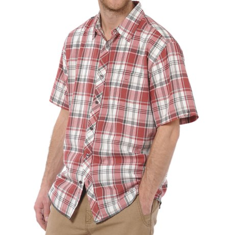 Horny Toad Weldon Shirt - Organic Cotton, Short Sleeve (For Men) in Mineral Red