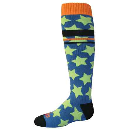 Hot Chillys Allstar Midweight Ski Socks - Over the Calf (For Little and Big Kids) in Allstar/Abyss - Closeouts