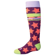 Hot Chillys Allstar Midweight Ski Socks - Over the Calf (For Little and Big Kids) in Allstar/Bright - Closeouts