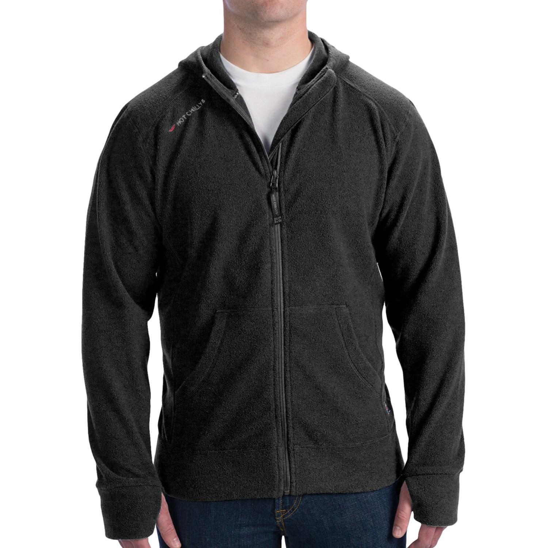 Hot Chillys Baja Fleece Hoodie - Full Zip (For Men) - Save 37%