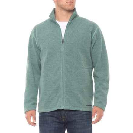 Hot Chillys Baja Fleece Jacket - Zip Neck, Long Sleeve (For Men) in Verde - Closeouts