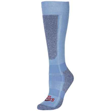 Hot Chillys Classic Mid Volume Ski Socks - Over the Calf (For Women) in Sky/Heather - Closeouts