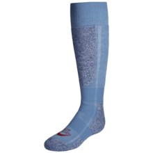 Hot Chillys Classic Ski Socks - Over the Calf (For Little and Big Girls) in Sky/Heather - Closeouts