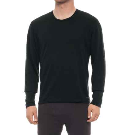 Hot Chillys Double-Layer Shirt - Crew Neck, Long Sleeve (For Men) in Black - Closeouts