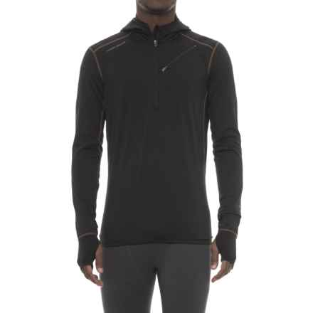 Hot Chillys F8 8K Base Layer Hoodie - Zip Neck (For Men) in Solid Black - Closeouts