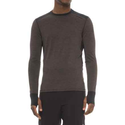 Hot Chillys Factor 8 8K Base Layer Top - UPF 40+, Merino Wool, Long Sleeve (For Men) in Black/Black - Closeouts