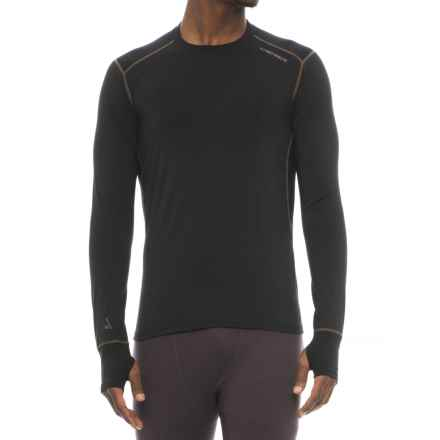 Hot Chillys Factor 8 8K Base Layer Top - UPF 40+, Merino Wool, Long Sleeve (For Men) in Solid Black - Closeouts