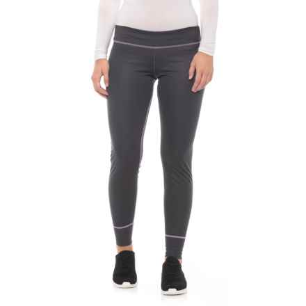 Hot Chillys Geo-Pro Base Layer Bottoms - UPF 30+, Midweight (For Women) in Black Heather/Light April