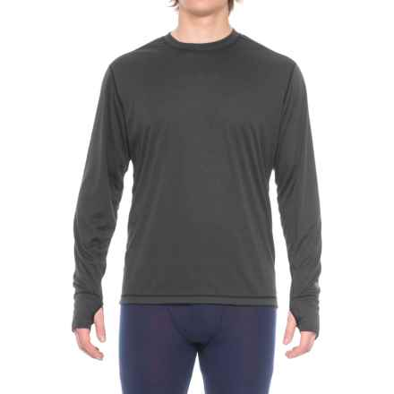 Hot Chillys Geo-Pro Base Layer Crew Top - UPF 30+, Midweight, Long Sleeve (For Men) in Black Heather - Closeouts