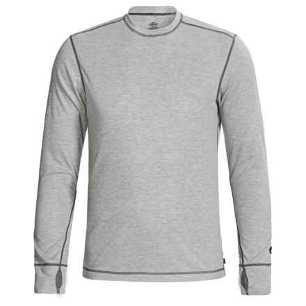 Hot Chillys Geo-Pro Base Layer Crew Top - UPF 30+, Midweight, Long Sleeve (For Men) in Natural Heather - Closeouts