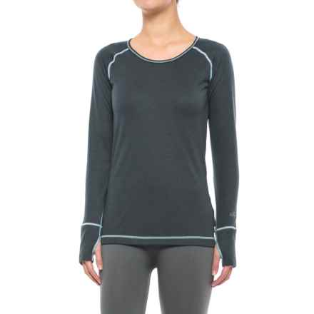 Hot Chillys Geo-Pro Base Layer Top - UPF 30+, Midweight, Scoop Neck, Long Sleeve (For Women) in Black Heather - Closeouts