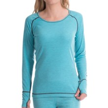 Hot Chillys Geo-Pro Base Layer Top - UPF 30+, Midweight, Scoop Neck, Long Sleeve (For Women) in New Sky Heather - Closeouts