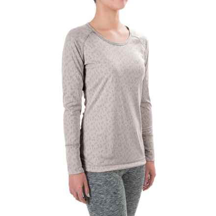 Hot Chillys Geo-Pro Base Layer Top - UPF 30+, Midweight, Scoop Neck, Long Sleeve (For Women) in Sugar - Closeouts