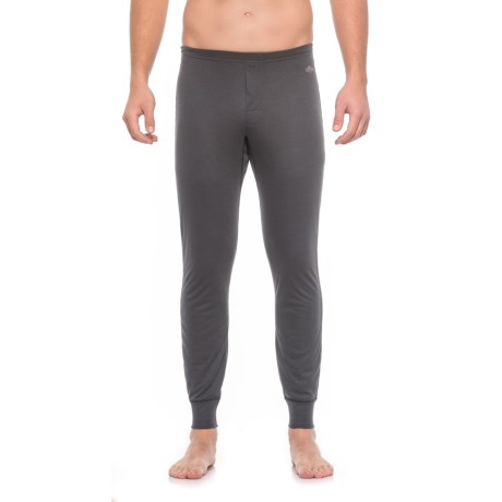 Hot Chillys Geo-Pro Fly Base Layer Bottoms - UPF 30+, Midweight (For Men) in Black Heather