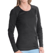Hot Chillys Geo-Pro Lace Print Base Layer Top - UPF 30+, Midweight, Scoop Neck, Long Sleeve (For Women) in Black Heather/Black - Closeouts