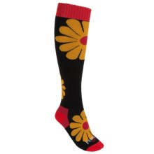 Hot Chillys Groovy Socks - Midweight, Over-the-Calf (For Women) in Groovy/Black - Closeouts