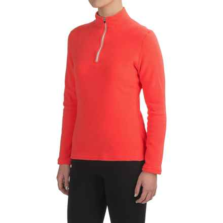 Hot Chillys La Montana Base Layer Top - Heavyweight, Zip Neck (For Women) in Coral/ Ivory - Closeouts