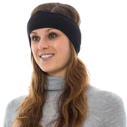 Hot Chillys La Montana Fleece Ear Band (For Women) in Black/Black - Overstock