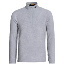 Hot Chillys La Montana Yoke Fleece Base Layer Zip Turtleneck - UPF 40+, Heavyweight, Long Sleeve (For Men) in Grey Heather