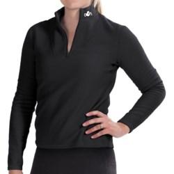Hot Chillys La Montana Yoke Fleece Base Layer Zip Turtleneck - UPF 40+, Heavyweight, Long Sleeve (For Women) in Black