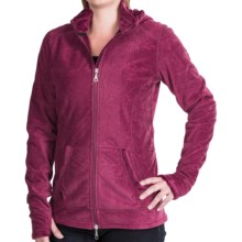 Hot Chillys La Paz Fleece Jacket - Zip Front (For Women) in Garnet - Closeouts