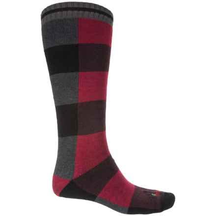 Hot Chillys Lumberjack Ski Socks - Over the Calf (For Men) in Lumberjack Red - Closeouts