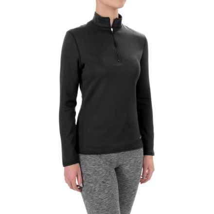 Hot Chillys M-Quilt Base Layer Top - Zip Neck, Long Sleeve (For Women) in Black/Black - Closeouts