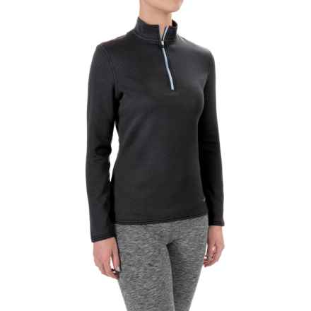 Hot Chillys M-Quilt Base Layer Top - Zip Neck, Long Sleeve (For Women) in Black/Frost - Closeouts
