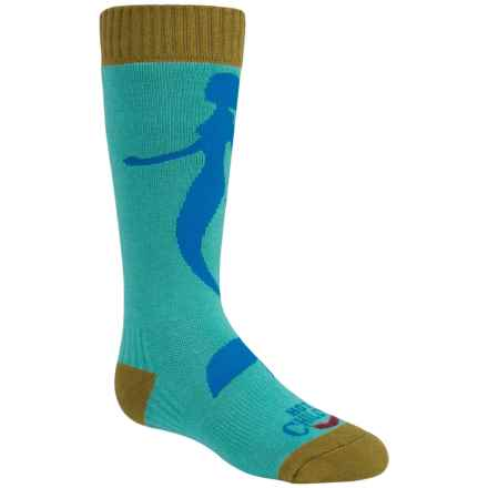 Hot Chillys Mermaid Fiesta Ski Socks - Over the Calf (For Little and Big Kids) in Mermaid/Jade - Closeouts