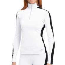 Hot Chillys Micro-Elite Brushed Panel Shirt - Heavyweight Base Layer, Long Sleeve (For Women) in White/Black - Closeouts