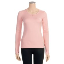 Hot Chillys Micro-Elite Brushed Sweetness Base Layer Top - Zip Neck, Long Sleeve (For Women) in Cameo - Closeouts