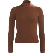 Hot Chillys Micro-Elite Brushed Top - Heavyweight Base Layer, Zip Neck, Long Sleeve (For Women) in Java - Closeouts
