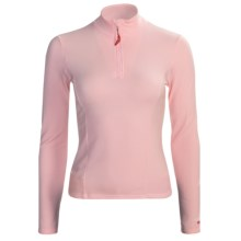 Hot Chillys Micro-Elite Brushed Top - Heavyweight Base Layer, Zip Neck, Long Sleeve (For Women) in Pink - Closeouts