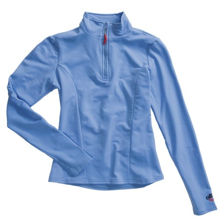 Hot Chillys Micro-Elite Brushed Top - Heavyweight Base Layer, Zip Neck, Long Sleeve (For Women) in Pink