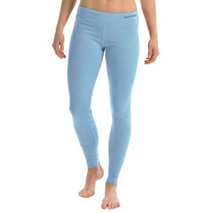 Hot Chillys Micro-Elite Chamois Base Layer Leggings - UPF 30+ (For Women) in Sky - Closeouts