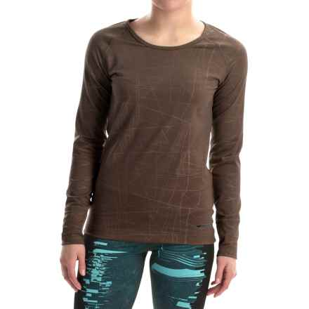 Hot Chillys Micro-Elite Chamois Base Layer Top- Scoop Neck, Long Sleeve (For Women) in Cocoa - Closeouts