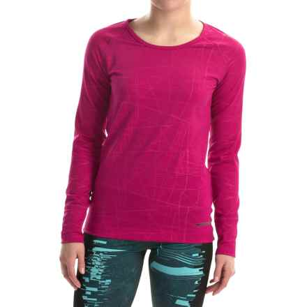 Hot Chillys Micro-Elite Chamois Base Layer Top- Scoop Neck, Long Sleeve (For Women) in Razzle - Closeouts