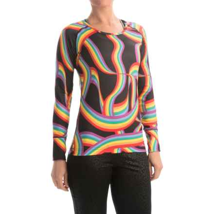 Hot Chillys Micro-Elite Chamois Base Layer Top- Scoop Neck, Long Sleeve (For Women) in Ribbon/Black - Closeouts
