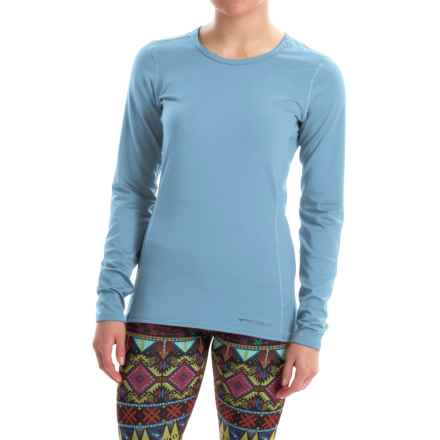 Hot Chillys Micro-Elite Chamois Base Layer Top - UPF 30+, Long Sleeve (For Women) in Sky - Closeouts