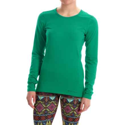 Hot Chillys Micro-Elite Chamois Base Layer Top - UPF 30+, Long Sleeve (For Women) in Tropic Green - Closeouts