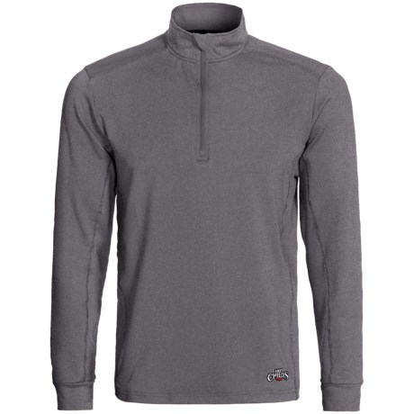 Hot Chillys Micro-Elite Chamois Panel Base Layer Zip Turtleneck - UPF 30+, Midweight, Long Sleeve (For Men)