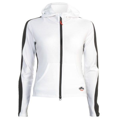 Hot Chillys Micro-Elite Hoodie - Full Zip, Heavyweight, Base Layer (For Women) in Leaf/Java