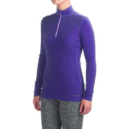 Hot Chillys Micro-Elite XT Base Layer Top - Zip Neck, Long Sleeve (For Women) in Blueberry/Violet - Closeouts