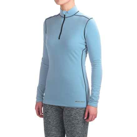 Hot Chillys Micro-Elite XT Base Layer Top - Zip Neck, Long Sleeve (For Women) in Glacier/Midngiht - Closeouts