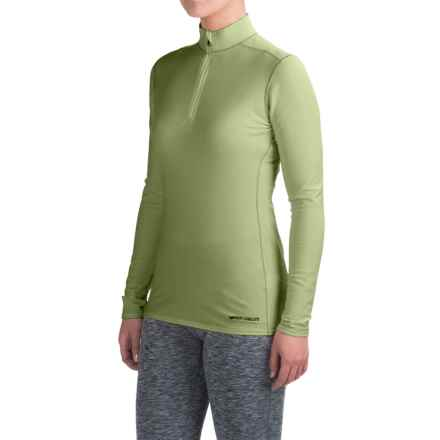 Hot Chillys Micro-Elite XT Base Layer Top - Zip Neck, Long Sleeve (For Women) in Kiwi - Closeouts