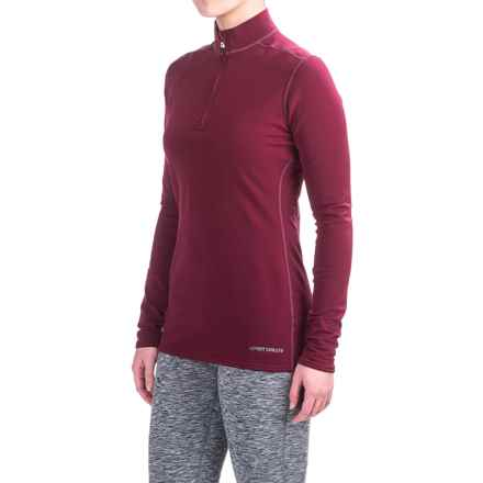 Hot Chillys Micro-Elite XT Base Layer Top - Zip Neck, Long Sleeve (For Women) in Merlot - Closeouts